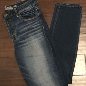High rise jeggings from American Eagle.